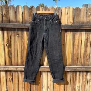 VINTAGE {Authentic Rockies} Black Studded Mom Jean